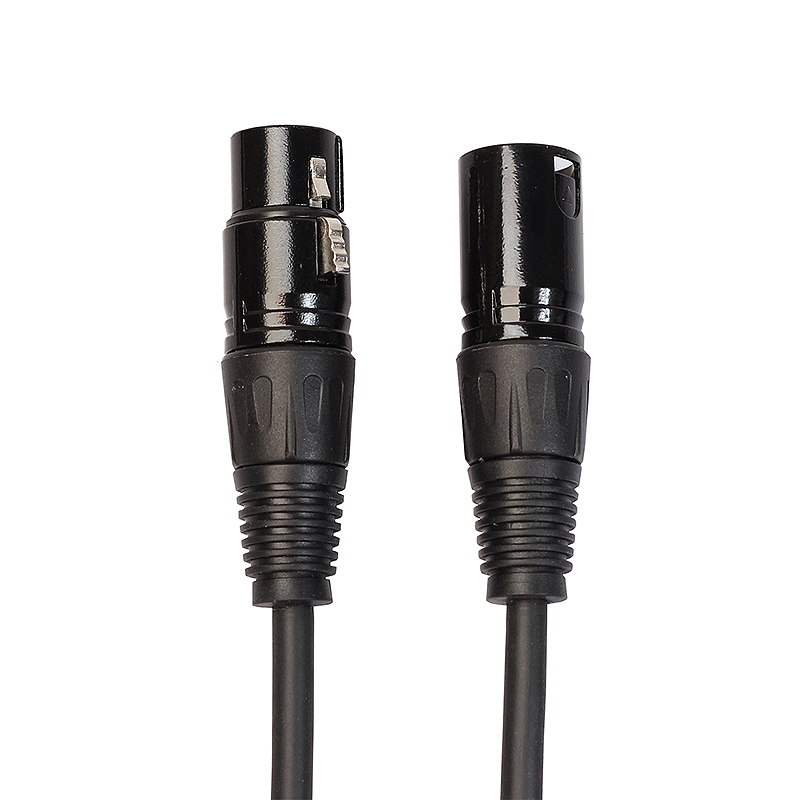 0.3M XLR Cable Male to Female Microphone Cable Black Audio Cable BK2019-03