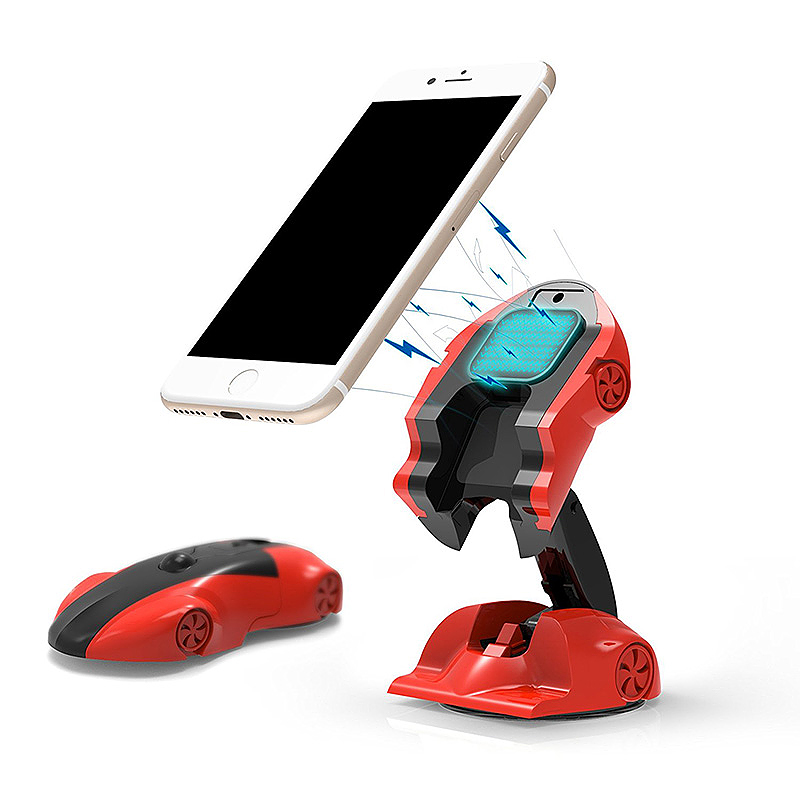 Car Model Car Holder Stand Universal 360 Degree Adjustable Phone Holder for iPhone X 8 - Red