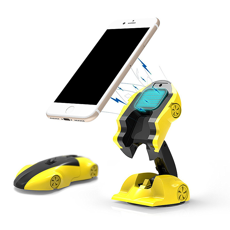 Car Model Car Holder Stand Universal 360 Degree Adjustable Phone Holder for iPhone X 8 - Yellow