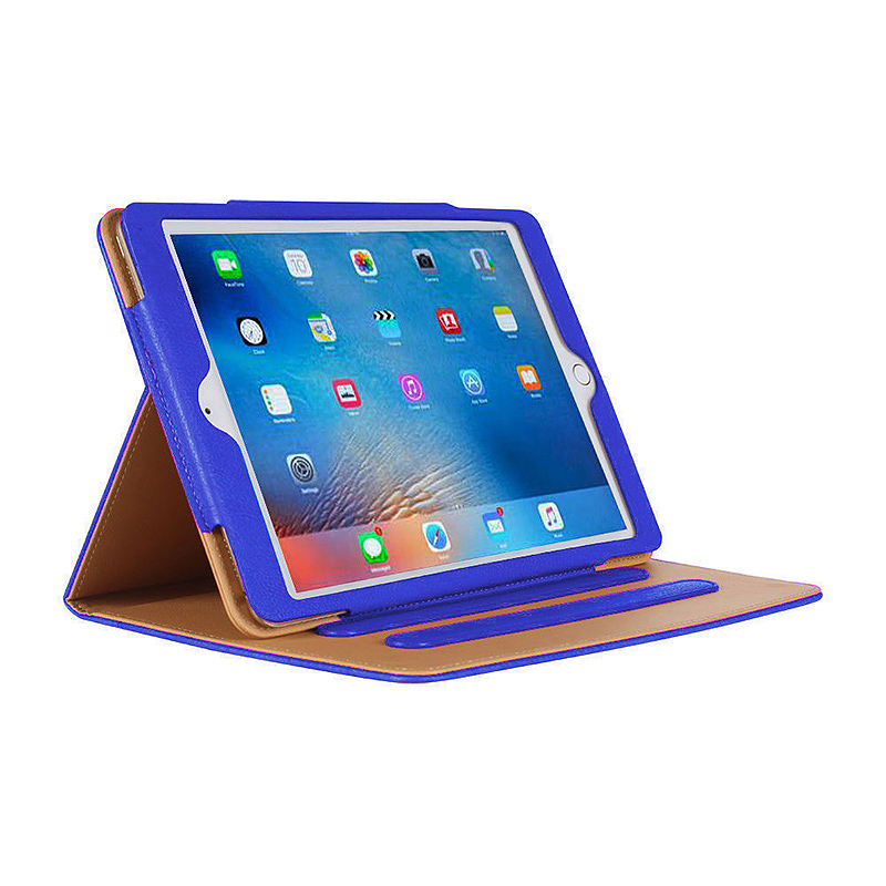 iPad Magnetic PU Leather Case Smart Flip Wallet Stand Cover Shell for Apple iPad Air 2 - Blue