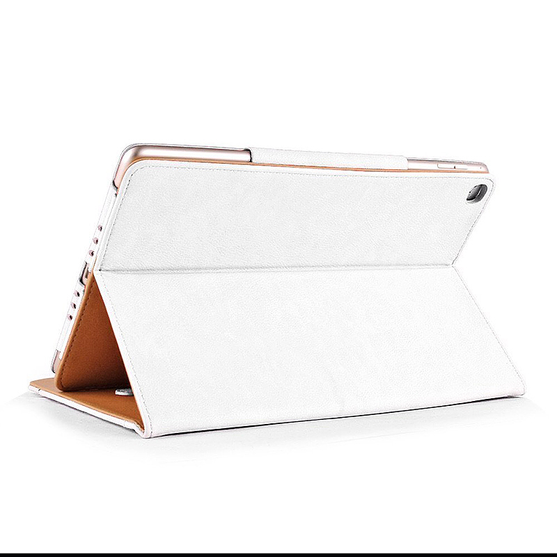 Luxury Smart Flip Cover Magnetic PU Leather Stand Wallet Case for iPad Air - White