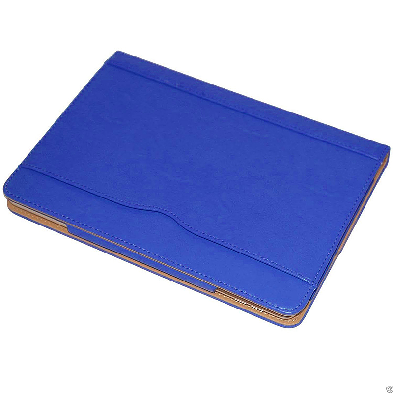 Luxury Smart Flip Cover Magnetic PU Leather Stand Wallet Case for iPad Air - Blue