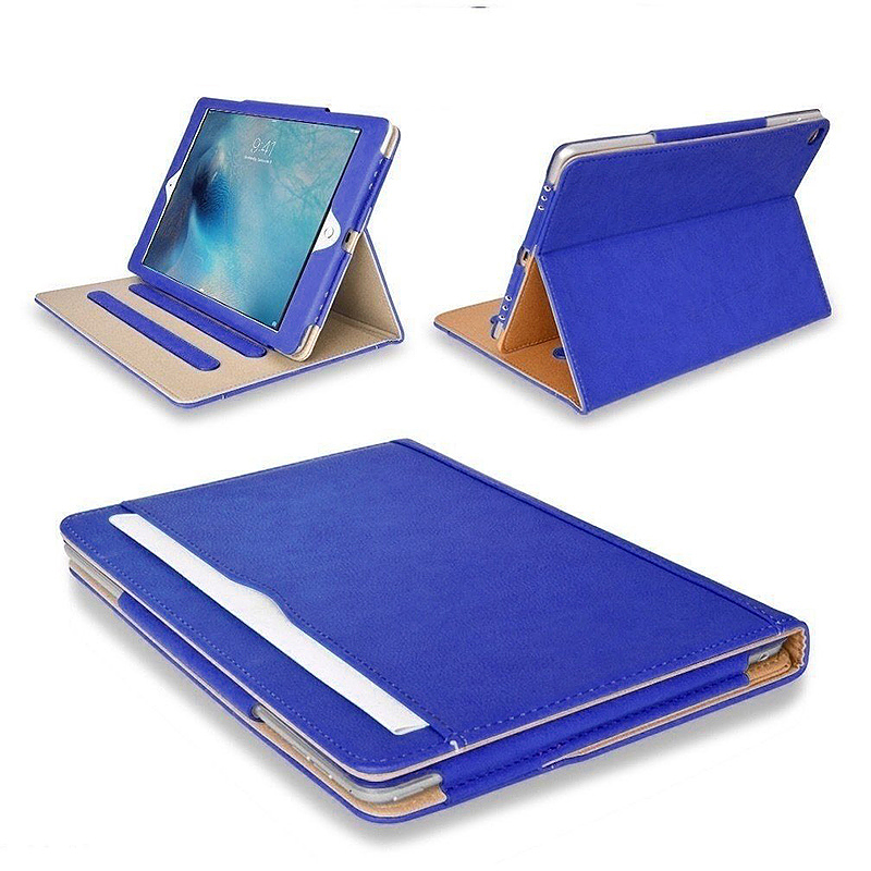 Smart PU Leather Slim Flip Stand Case Cover Magnetic iPad NEW 2017 Case - Blue