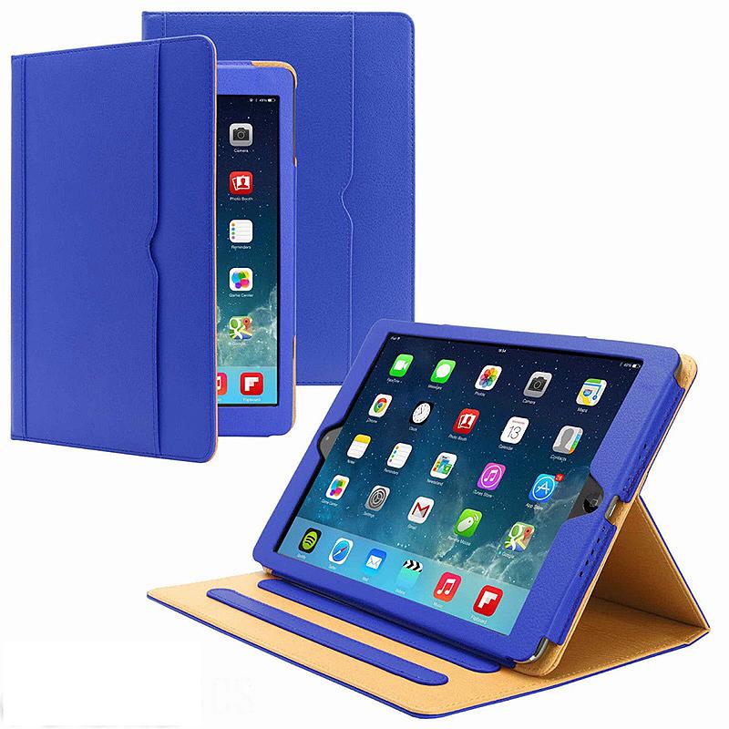 iPad Pro 9.7 Smart Magnetic PU Leather Case Slim Flip Case Cover - Blue