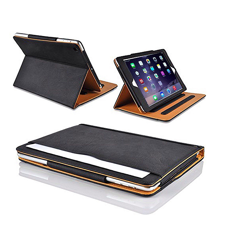 Luxury Magnetic Smart Flip Cover Stand Wallet PU Leather Case for iPad Pro 10.5 - Black