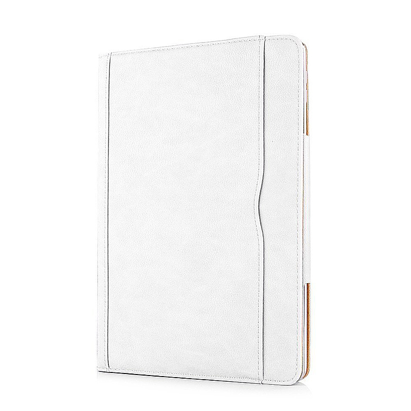 Luxury Magnetic Smart Flip Cover Stand Wallet PU Leather Case for iPad Pro 10.5 - White