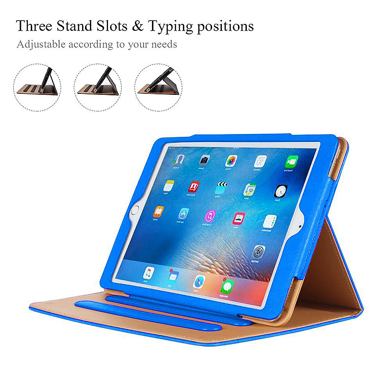 Luxury Magnetic Smart Flip Cover Stand Wallet PU Leather Case for iPad Pro 10.5 - Blue