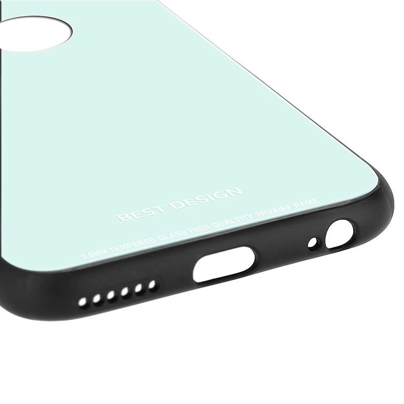 iPhone 6s Plus Tempered Glass Case Thin Full Hard Shockproof Case Cover - White