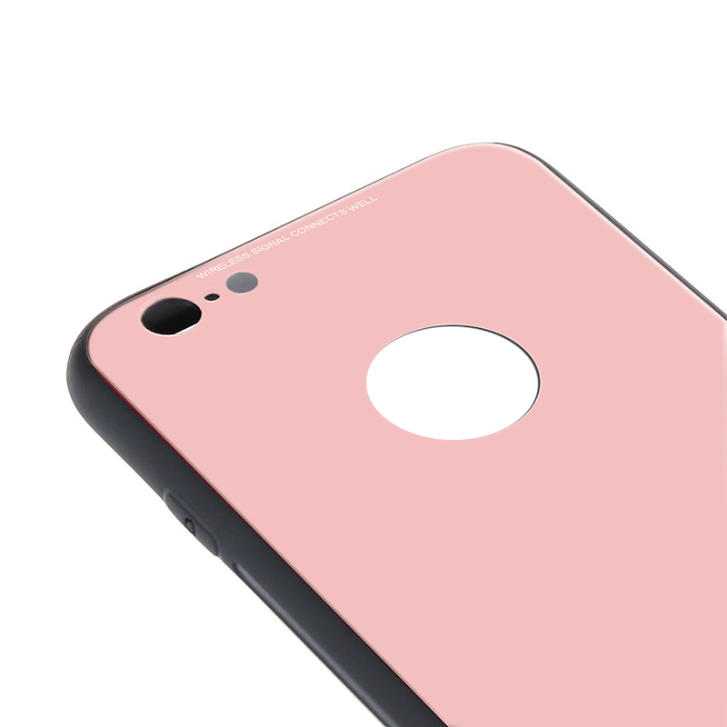 iPhone 6s Plus Tempered Glass Case Thin Full Hard Shockproof Case Cover - Pink