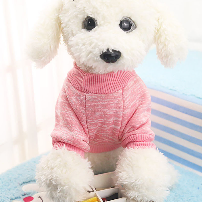 Size XS Pet Dog Puppy Cat Warm Clothes Coats Apparel Jumper Knitted Sweater Knitwear Costume - Pink