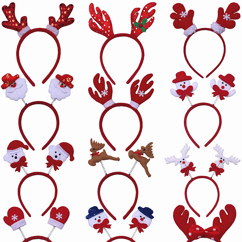 Christmas Headbands Xmas Decorative Headwear Party Fancy Dress Random Pattern