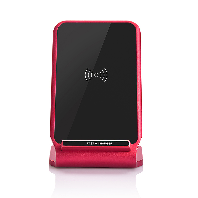N11 Wireless Stand Fast Charger Portable Fantasy Charging Pad Mat for Samsung S8 iPhone 8/X - Red
