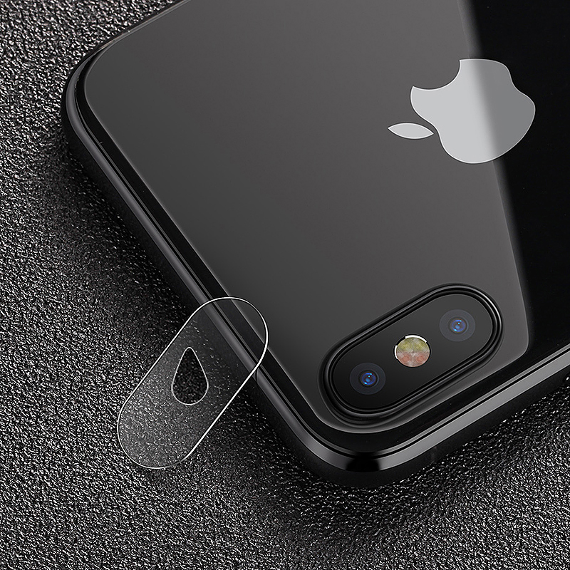 2.5D Back Camera Lens Tempered Glass Screen Protector Cover Film for iPhone X