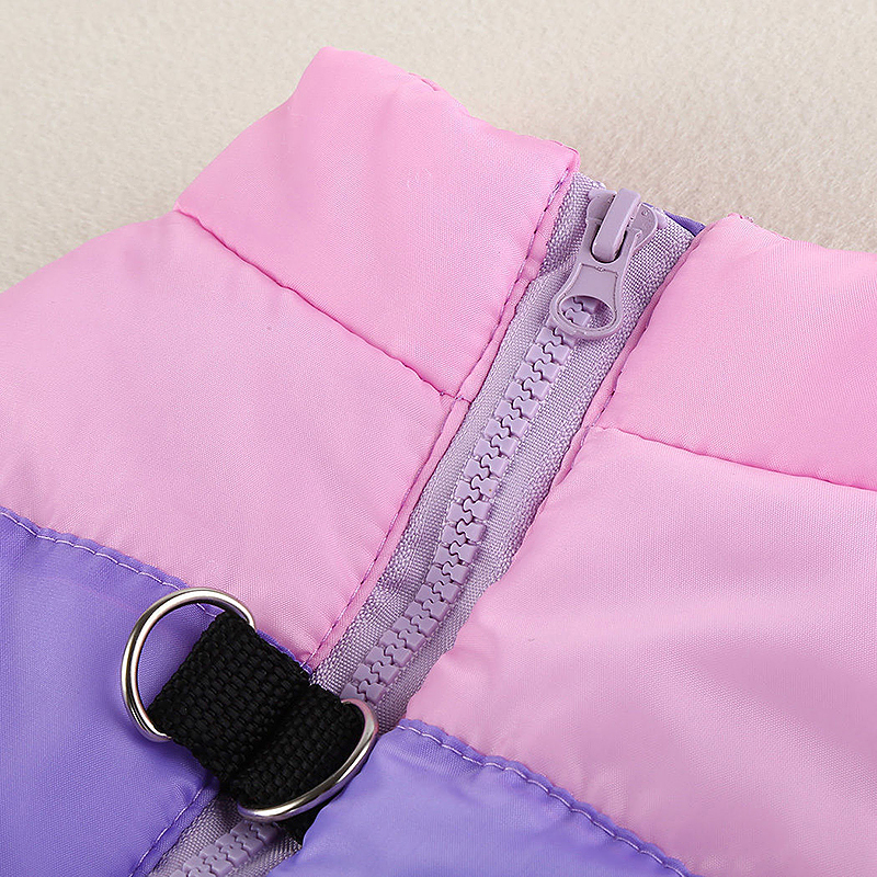 Comfy Pet Dog Cat Puppy Winter Coat Pulling Buckle Warm Vent Jacket - Size XS