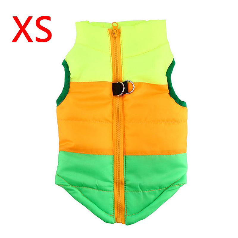 Soft Pet Dog Cat Puppy Winter Vent Coat Pulling Buckle Jacket - Size XS