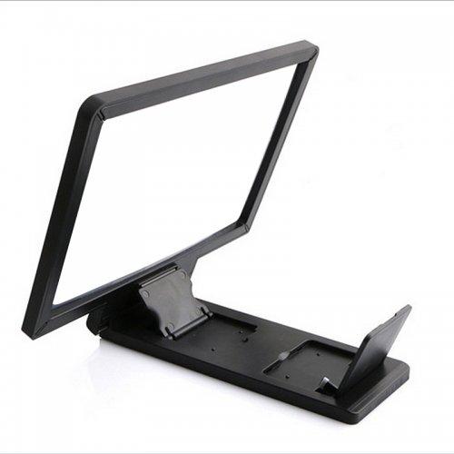 Black Folding 3D Portable Magnifier HD Screen Enlarge Stand Amplifier