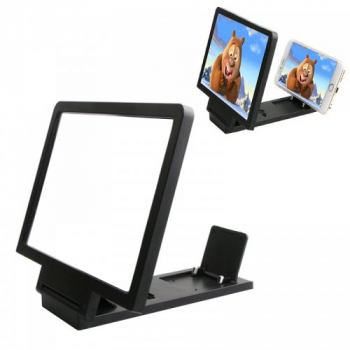 Black Folding 3D Portable Magnifier HD Screen Enlarge Stand Amplifier