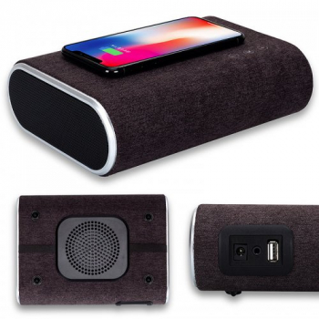 F176 Wireless Charger Bluetooth Speaker Stereo Slim Portable Musicbox for iPhone 8/X