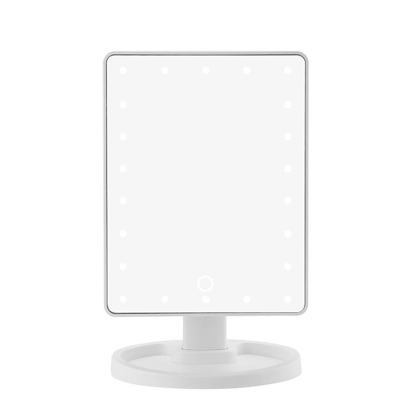 16 LED Modern Look Magical Makeup Mirror Lighted Screen Vanity Mirror Portable Cordless Desktop European /& American Style Mirror White