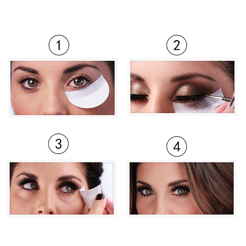 c13e9816280 10pcs Eye Shadow Shields Eye Makeup Mascara Guards Pads Eyelash Eyeline  Tinting Pads Beauty Tool