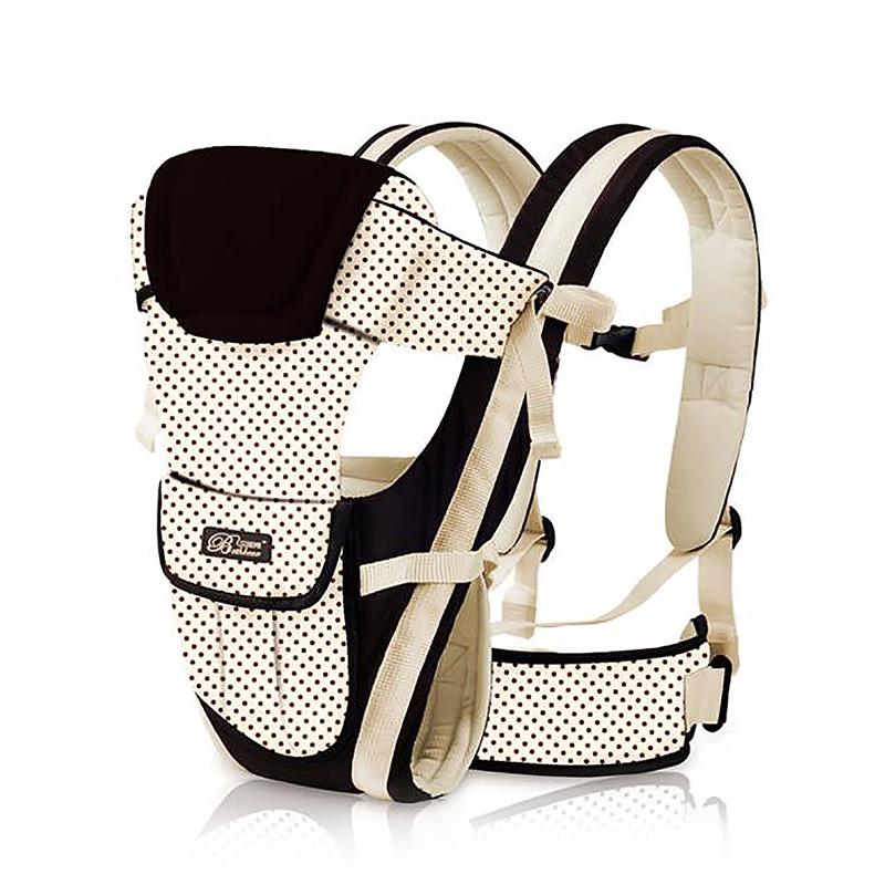 Newborn Baby Carrier Strong Breathable Adjustable Ergonomic Infant Backpack - Beige