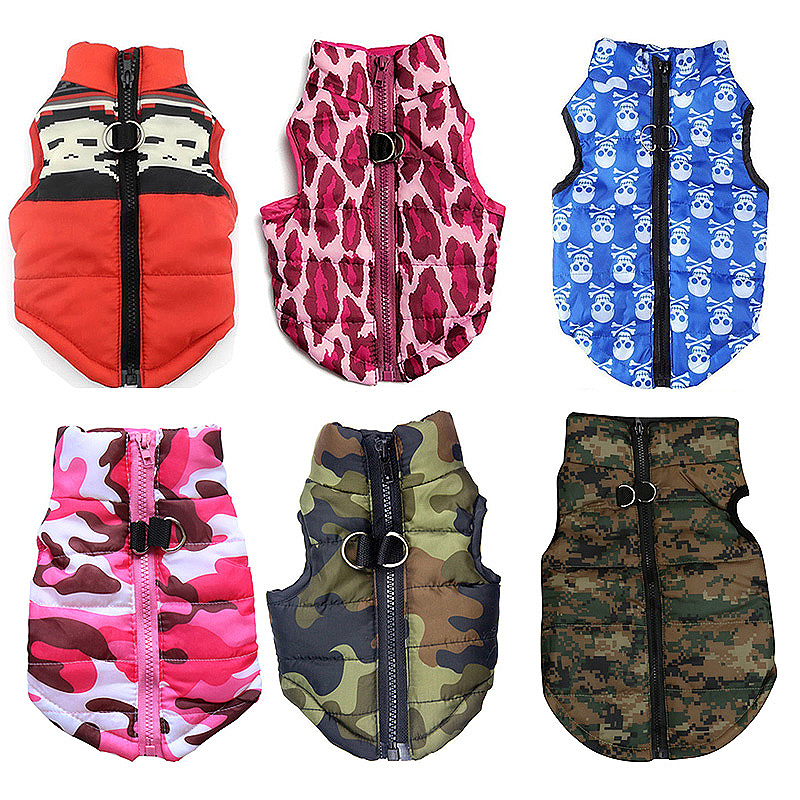 Pet Dog Puppy Vest Jacket Comfy Soft Winter Warm Pet Coat Costume Pink Camouflage - Size XS