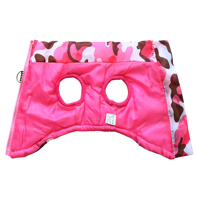Pet Dog Puppy Vest Jacket Comfy Soft Winter Warm Pet Coat Costume Pink Camouflage - Size M
