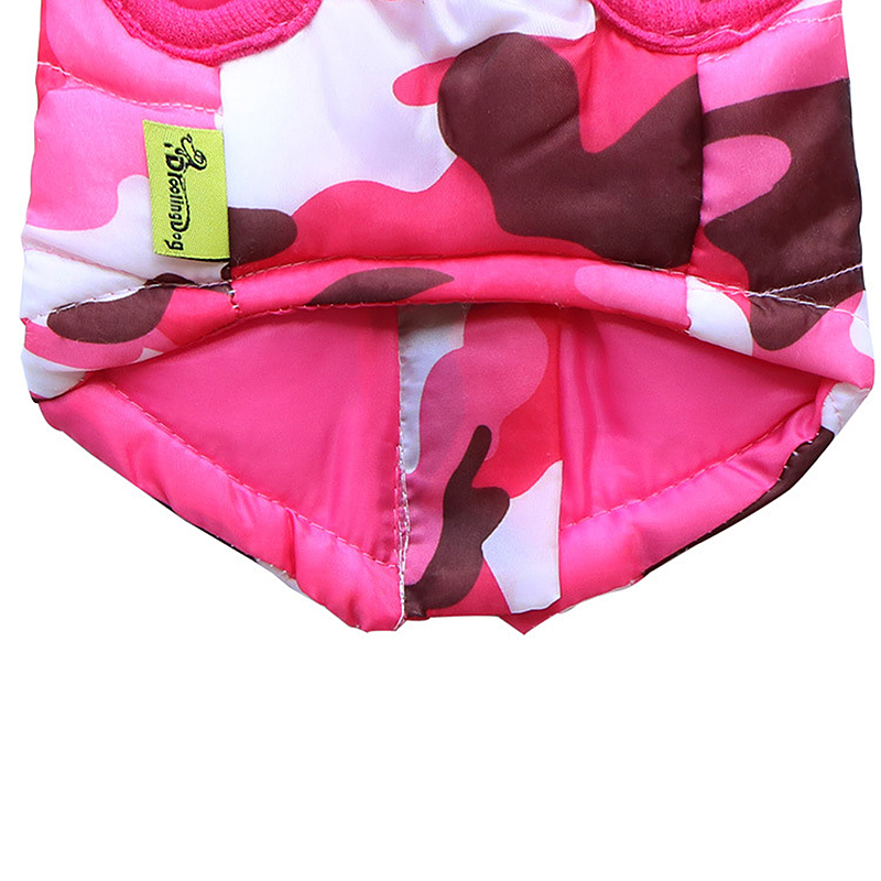 Pet Dog Puppy Vest Jacket Comfy Soft Winter Warm Pet Coat Costume Pink Camouflage - Size XL