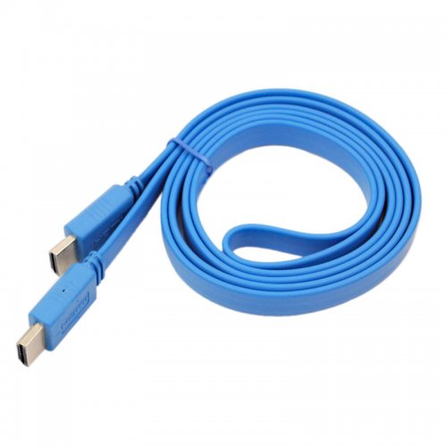1.5M Noodle Style HDMI to HDMI Digital Audio/ Video Cable- Blue