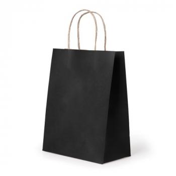 21*15*8cm Hand Portable Party Paper Gift Bag Kraft Paper - Black