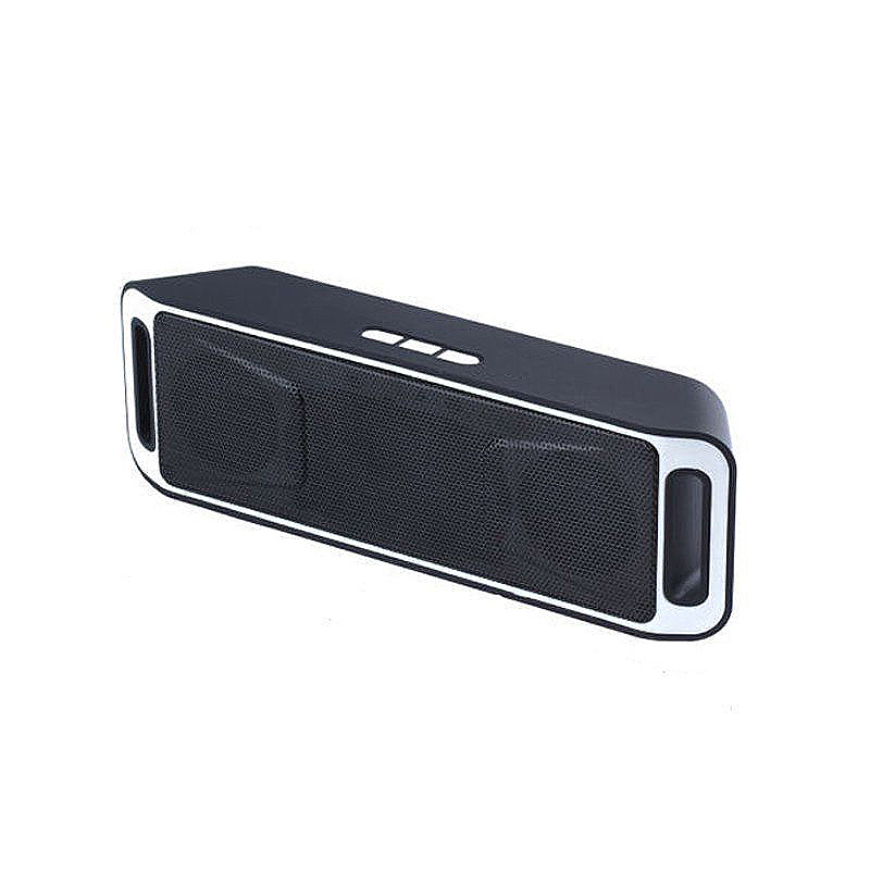SC208 Wireless Bluetooth Speaker Outdoor Portable Mini Dual Bass Sound Box Music Player - Grey