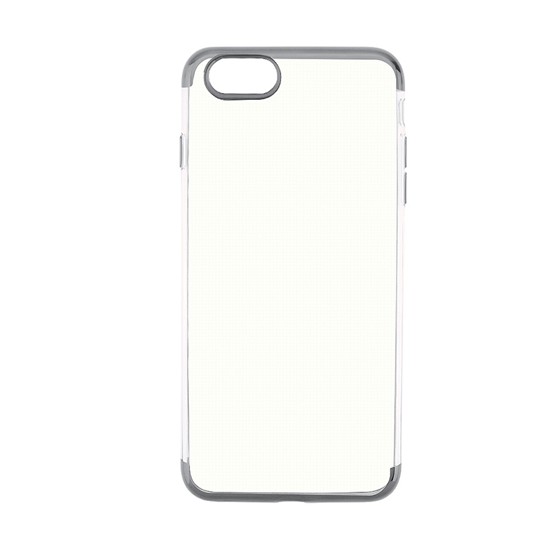 Soft TPU Silicone Shockproof Case Ultra Slim Thin Clear Back Cover for iPhone 6S Plus - Grey