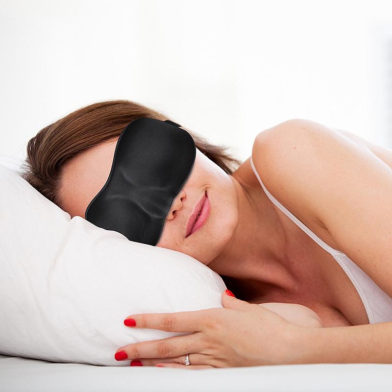 3D Eye Mask Cover Soft Comfortable Sponge Sleeping Blindfold Eyeshade - Black