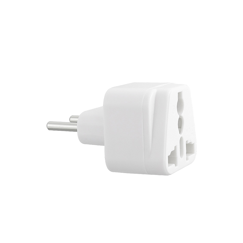 WD-9C UK to EU Plug Adapter Portable Power Socket Travel Charge Converter - White