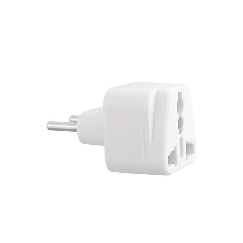 WD-9C UK to EU Plug Adapter Portable Power Socket Travel Charge Converter - White