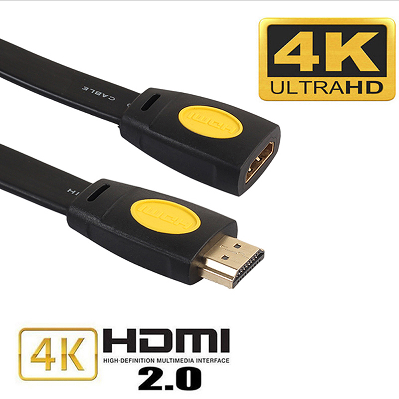 HDMI Extension Cable Male to Female 4K 2.0 Extended Connector for HD TV LCD Laptop - 1.8M