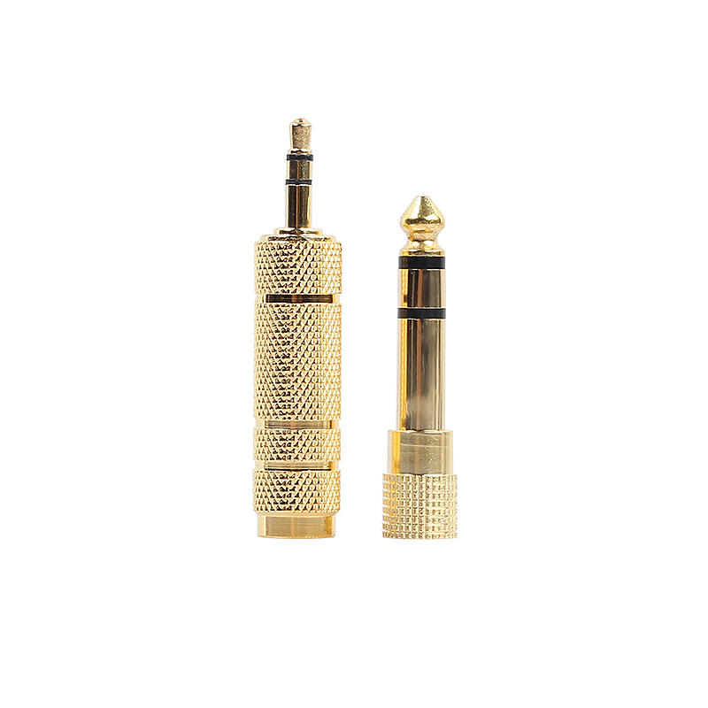 2pcs Headphone Adapter 6.35mm (1/4 Inch) Male to 3.5mm (1/8 Inch) Female Stereo Jack Audio Converter