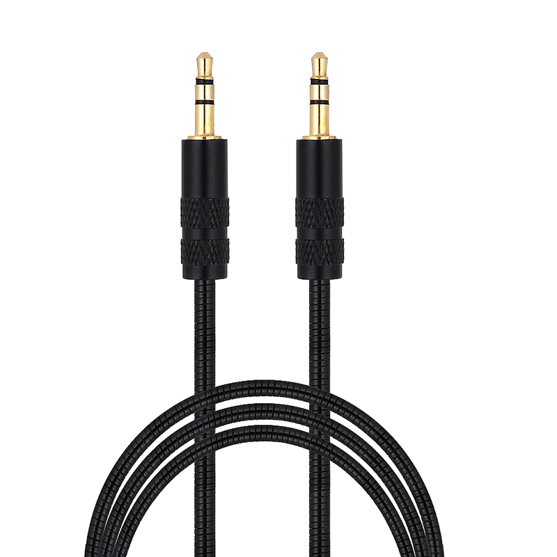 3.5mm Male to Male Stereo Jack Audio Aux Cable Cord for Car Headphone iPod MP3 - Black