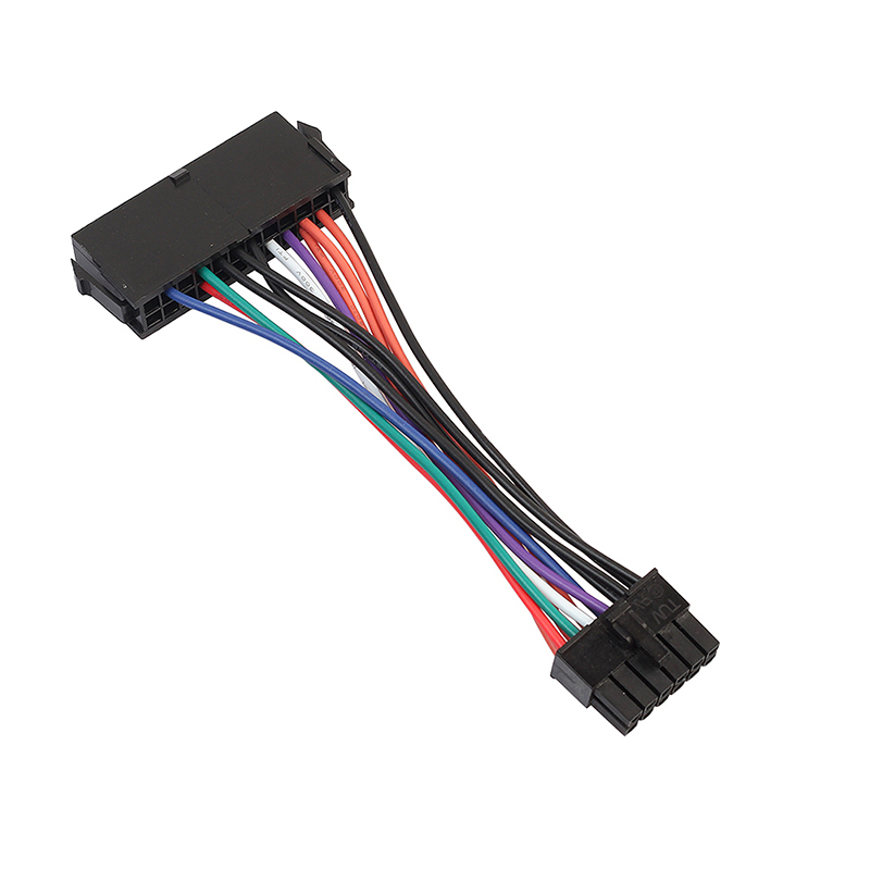 ATX 24Pin Female to 12Pin Male Adapter Converter Portable Power Supply Sleeved Cable for Acer Q87H3-AM