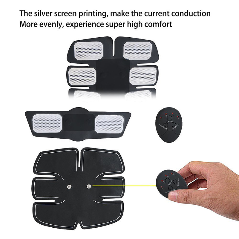 3PCS EMS Muscle Training Body Sixpack Fit Set ABS Sixpad Electrical Muscle Simulation for Abdomen/Arm/Leg
