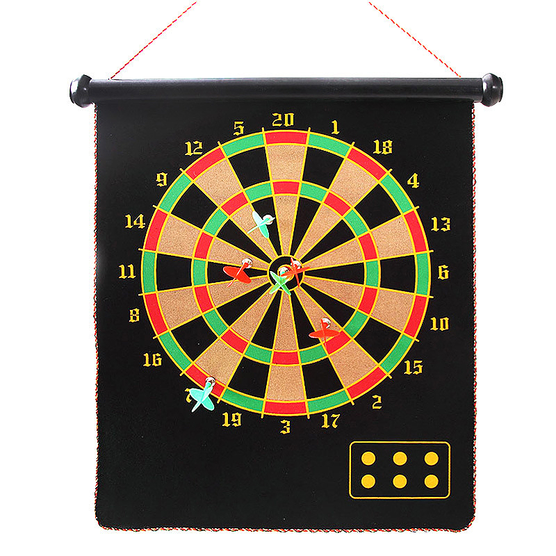 12 Inches Double-sided Safety Magnetic Dart Board Target Set Kids Offices Game with 4PCS Darts