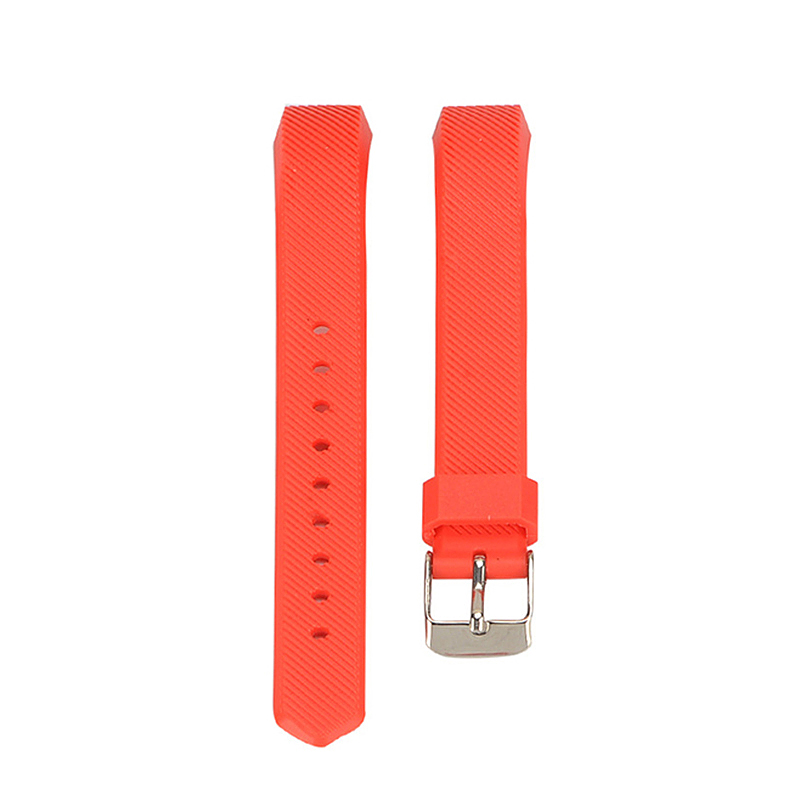 Replacement Silicone Watchband Soft TPU Adjustable Sports Watch Band Wrist Strap for Fitbit Alta HR Size L - Red
