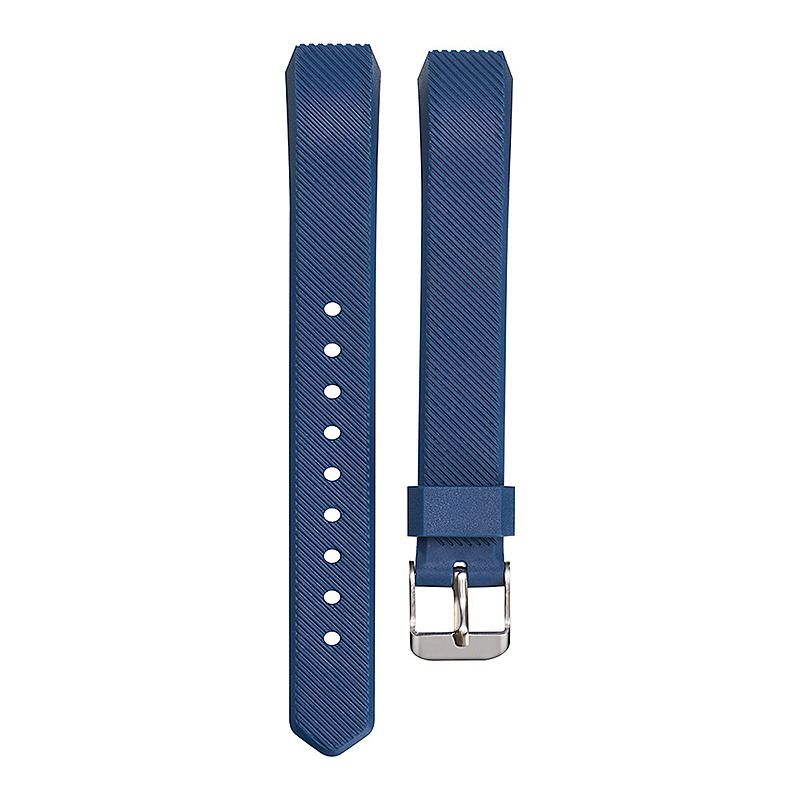 Replacement Silicone Watchband Soft TPU Adjustable Sports Watch Band Wrist Strap for Fitbit Alta HR Size L - Dark Blue