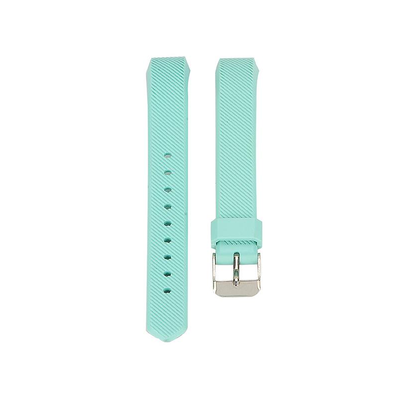 Replacement Silicone Watchband Soft TPU Adjustable Sports Watch Band Wrist Strap for Fitbit Alta HR Size L - Light Green