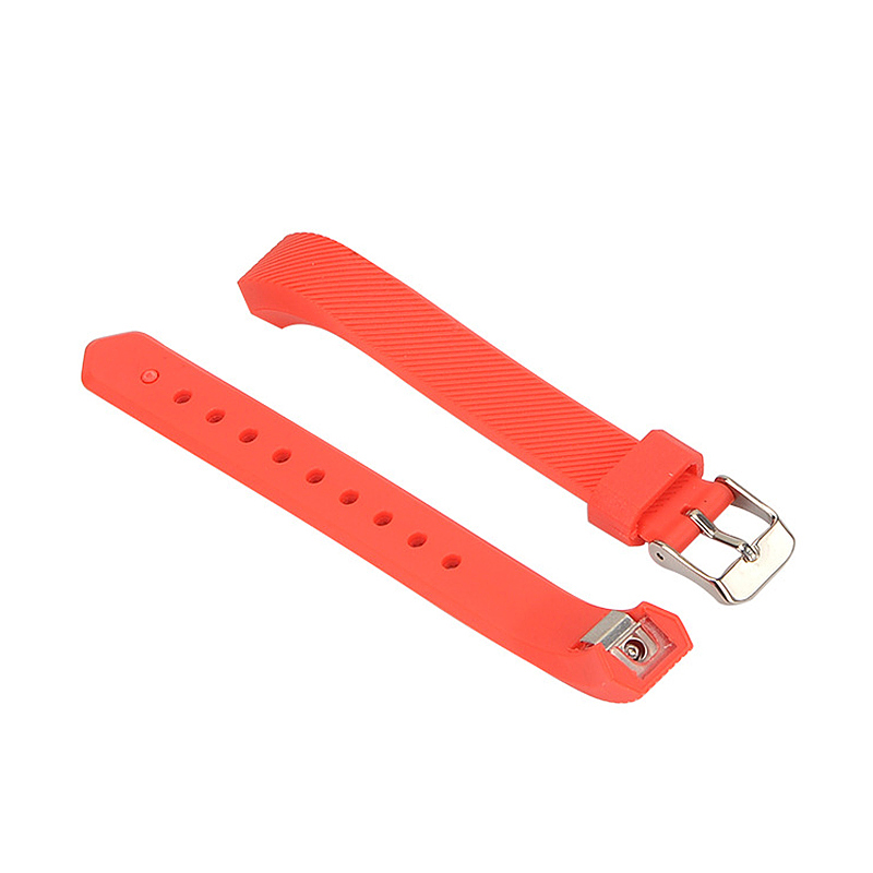 Silicone Sports Adjustable Replacement Watch Band Wristband Strap for Fitbit Alta HR Size S - Red