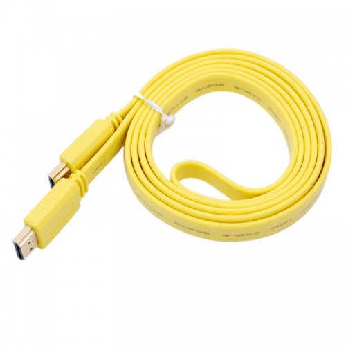 5M Noodle Style HDMI to HDMI Digital Audio/ Video Cable- Yellow