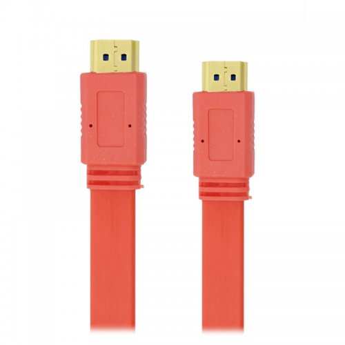 5M Noodle Style HDMI to HDMI Digital Audio/ Video Cable- Orange
