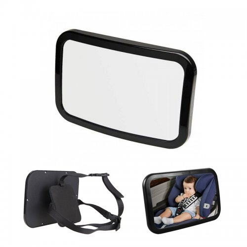 Adjustabe Wide View Baby Child Back Seat Car Safety Mirror Headrest Mount