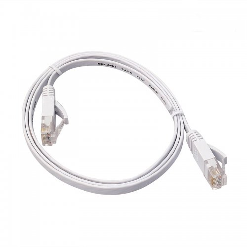 1m CAT6 RJ-45 Ultra-Thin Flat Ethernet Network Cable for Smart TV Xbox - White