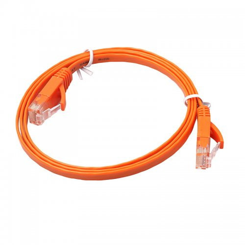1m CAT6 RJ-45 Ultra-Thin Flat Ethernet Network Cable for Smart TV Xbox - Orange